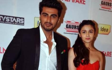 alia bhatt with arjun kapoor at 59th filmfare awards-showbizbites