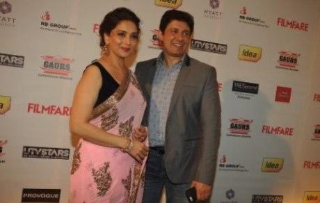 madhuri with husband-filmfare