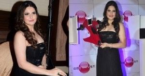 Pix: Hot Zarine Khan Shows Cleavage at Amesthyst Bluetooth Speakers Launch