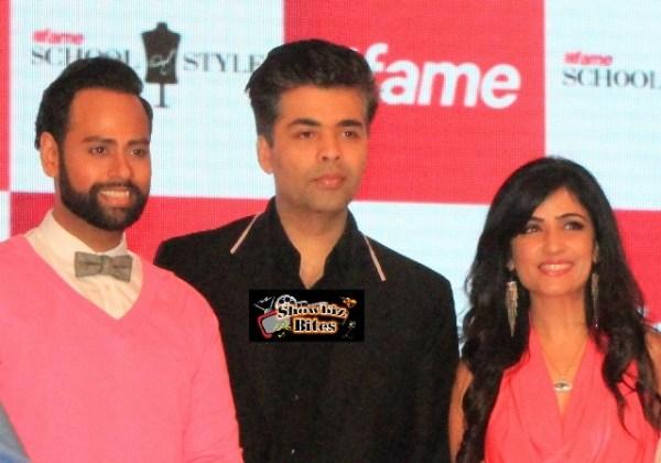 VJ Andy, Karan Johar and Shibani Kashyap at #fame launch