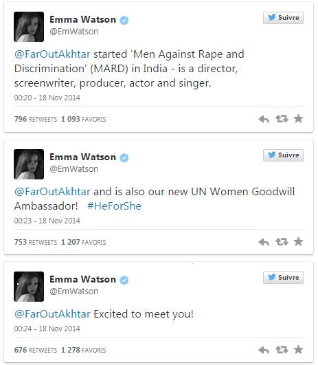Emma Watson Twitter Tweets