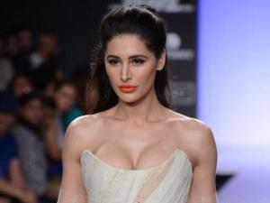 Nargis Fakhri Shows Heavy Amount of Cleavage at a Fashion Show
