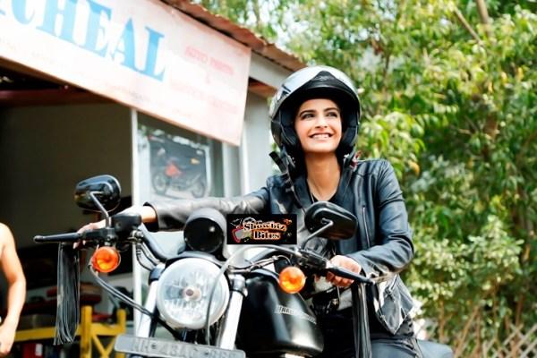 Sonam Kapoor riding a bike in Dolly Ki Doli