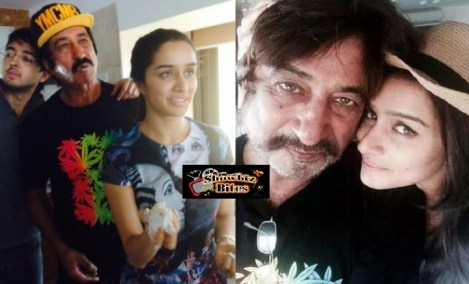 Shraddha's birthday with dad Shakti