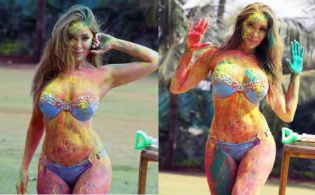 Sofia Hayat Plays Holi-Feature