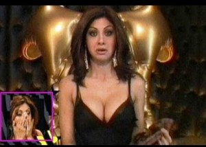 CAUGHT: Shilpa Shetty's Larger Assets Come Out of Her Top on Television