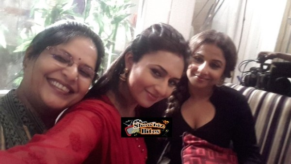 Vidya Balan on the Sets of Yeh Hai Mohabaatein-01