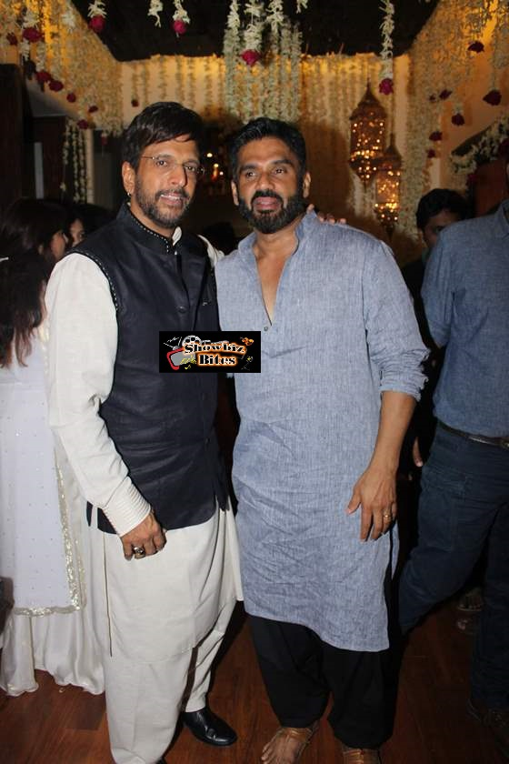 Javed Jaffrey and Suniel Shetty