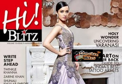 Shraddha Kapoor on Hi Blitz Cover Page