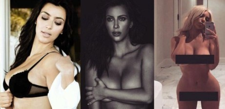 kim kardashian bares it all