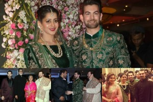 PHOTOS & VIDEO: Bollywood Grace Neil Nitin Mukesh's Wedding Reception in Mumbai