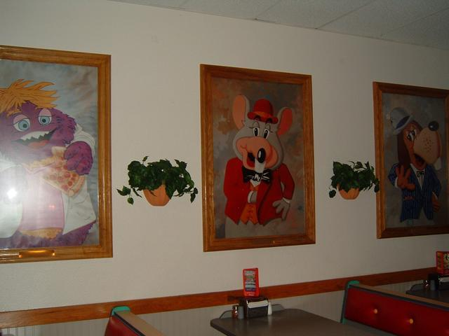 WANTED Chuck E Cheese instore wall art