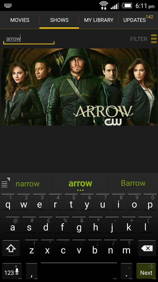 Arrow on ShowBox 2