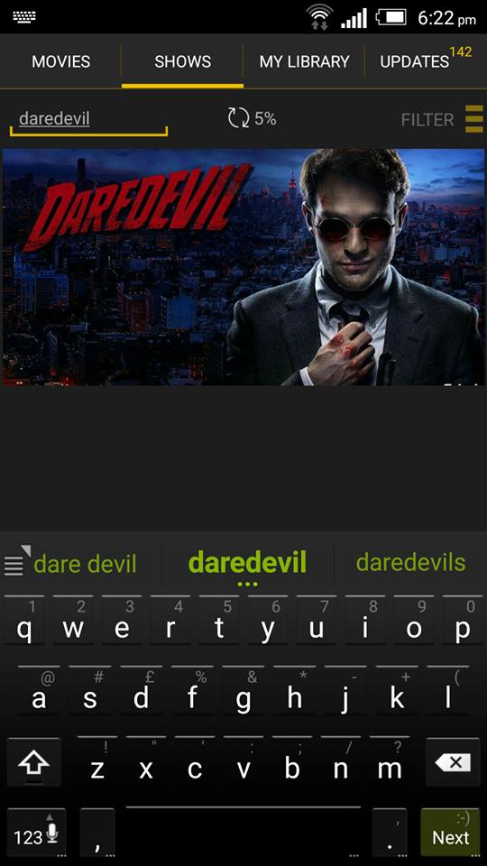 Daredevil on ShowBox 1