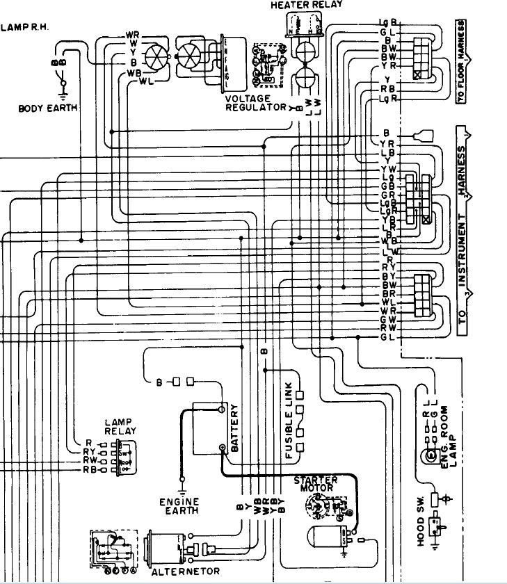 Datsun 620 Wiring Diagram For Alternator