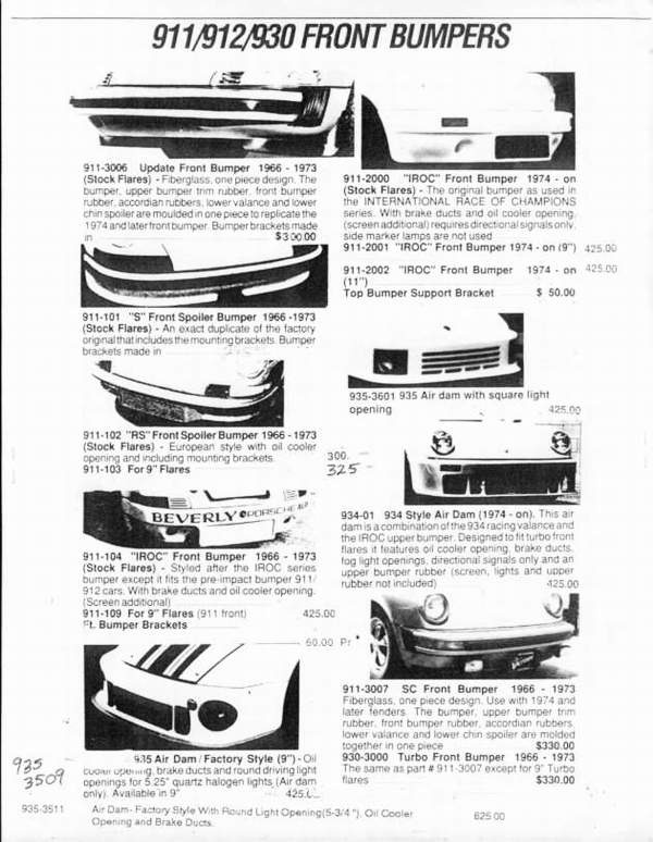 porsche 911 catalogue page 1
