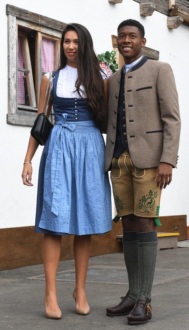 Oktoberfest 2018  David Alaba and his girlfriend Shalimar