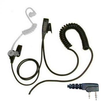 Acoustic tube earpiece & collar clip for TV Presenter & radio headsets - BG-TUBE - Showcomms