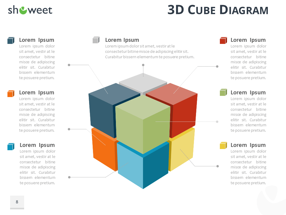 Rubik Cube Diagram Infographics For Powerpoint And Keynote Dark