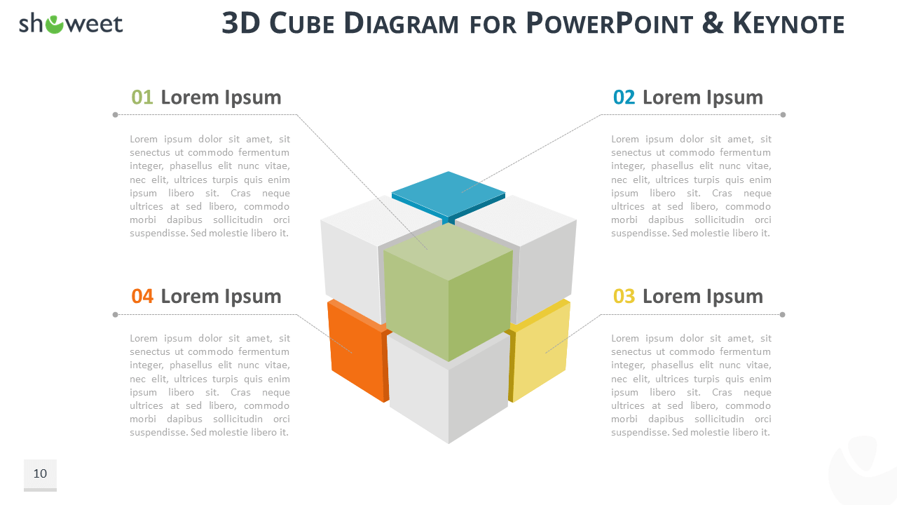 hight resolution of rubik cube diagram infographics for powerpoint and keynote widescreen