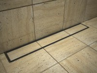 Tile insert linear shower drains with 1100mm flange