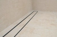 Tile insert channel shower drains with 1100mm flange