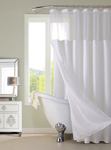 Dainty Home CSCDLWH Waffle Shower Curtain Complete CurtainWhite