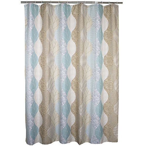 Ufaitheart Abstract Leaves Pattern Modern Bathroom Curtain