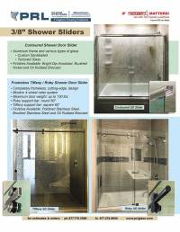 A Spectacular Selection of Frameless Shower Door Sliders