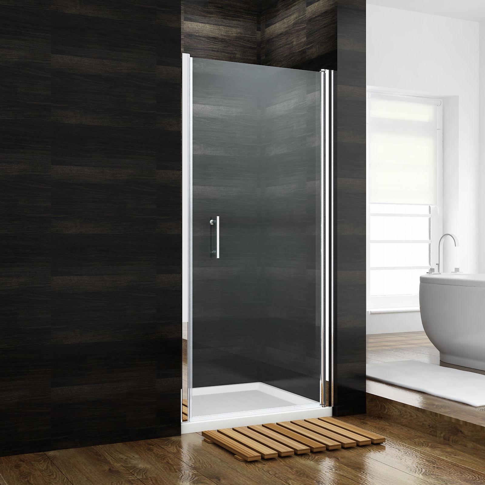 Details About Sunny Shower 31 1 4x72 In Semi Frameless Glass Pivot Shower Door Chrome Finish