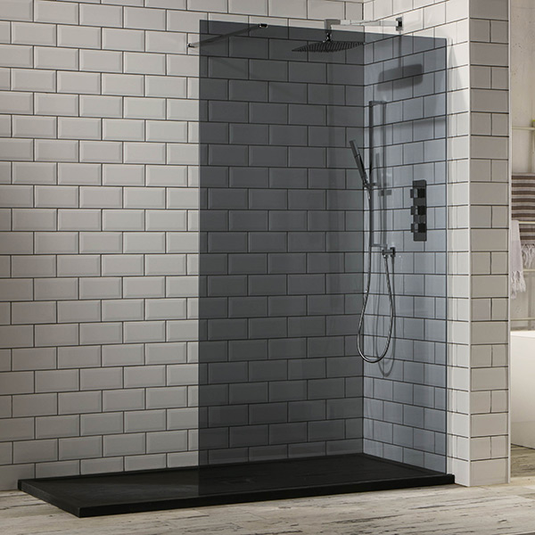 Aquaglass 10mm Tinted Black Glass WalkIn Shower