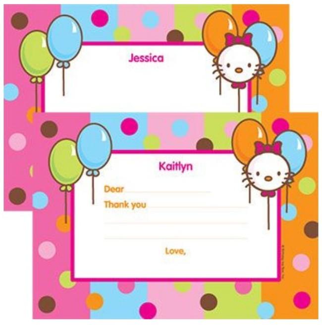 hello kitty invitation card template