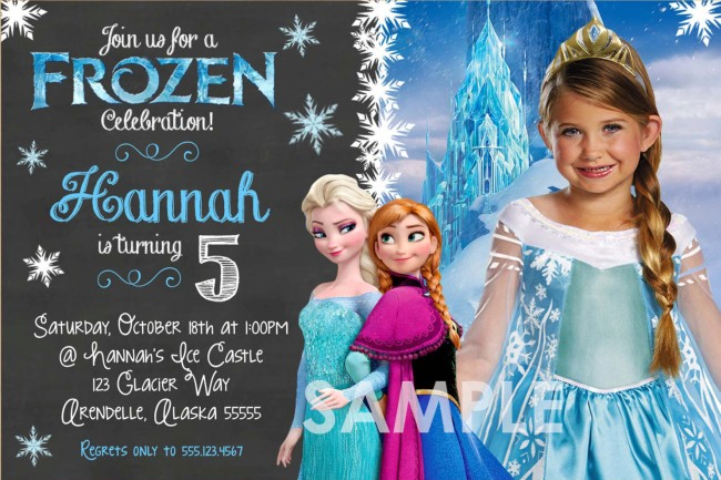 personalized frozen birthday party