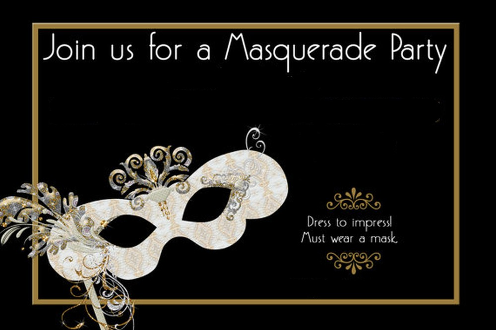 photograph about Free Printable Masquerade Invitations titled Masquerade Invites Template Totally free - Anarchistshemale