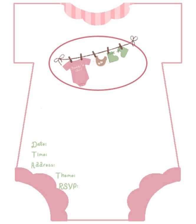 Diaper Baby Shower Invitations Free