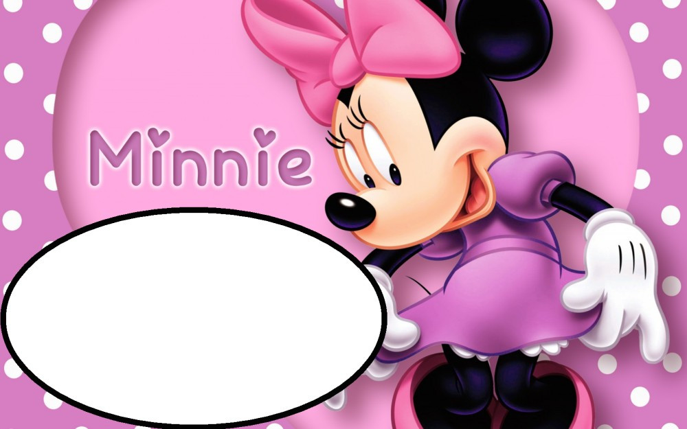 pink minnie mouse template for birthday