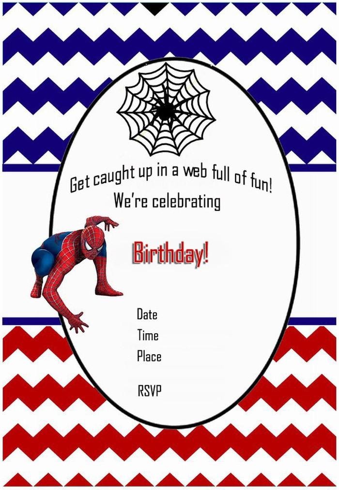 spiderman free printable invitation