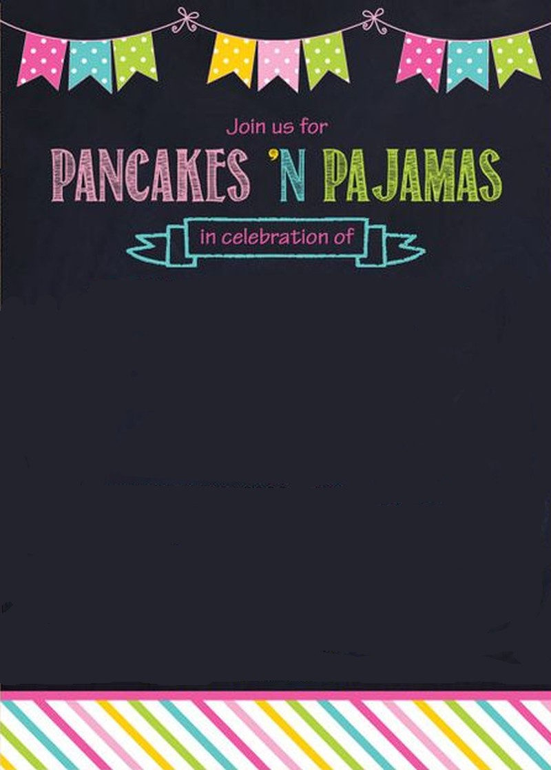 Pancaces 'n Pajama Party Invitation Template Invitations