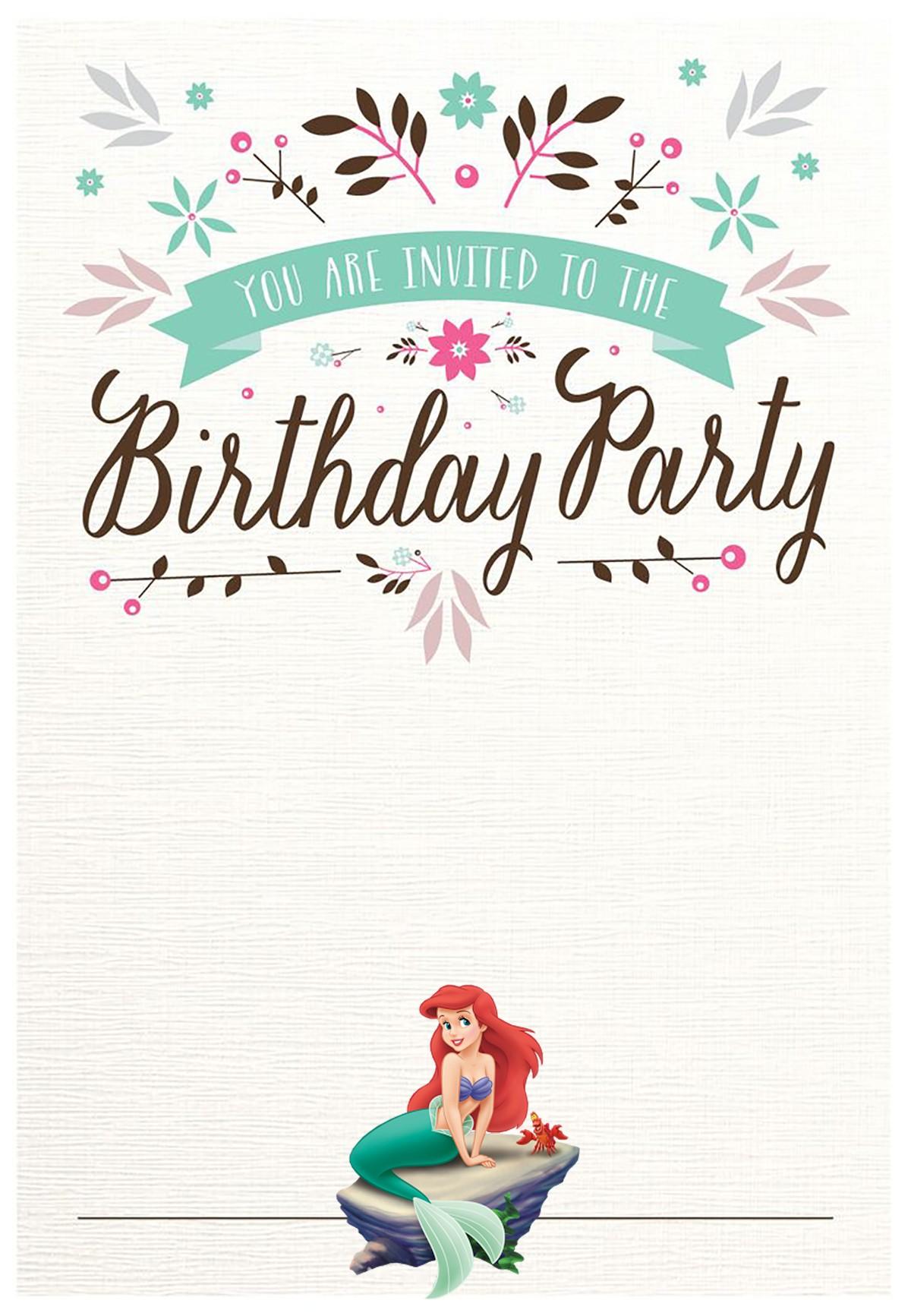 little mermaid free printable