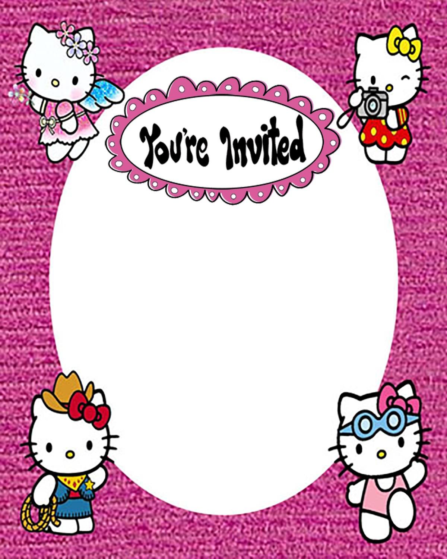 Hello Kitty Free Printable Invitation Templates Invitations Online
