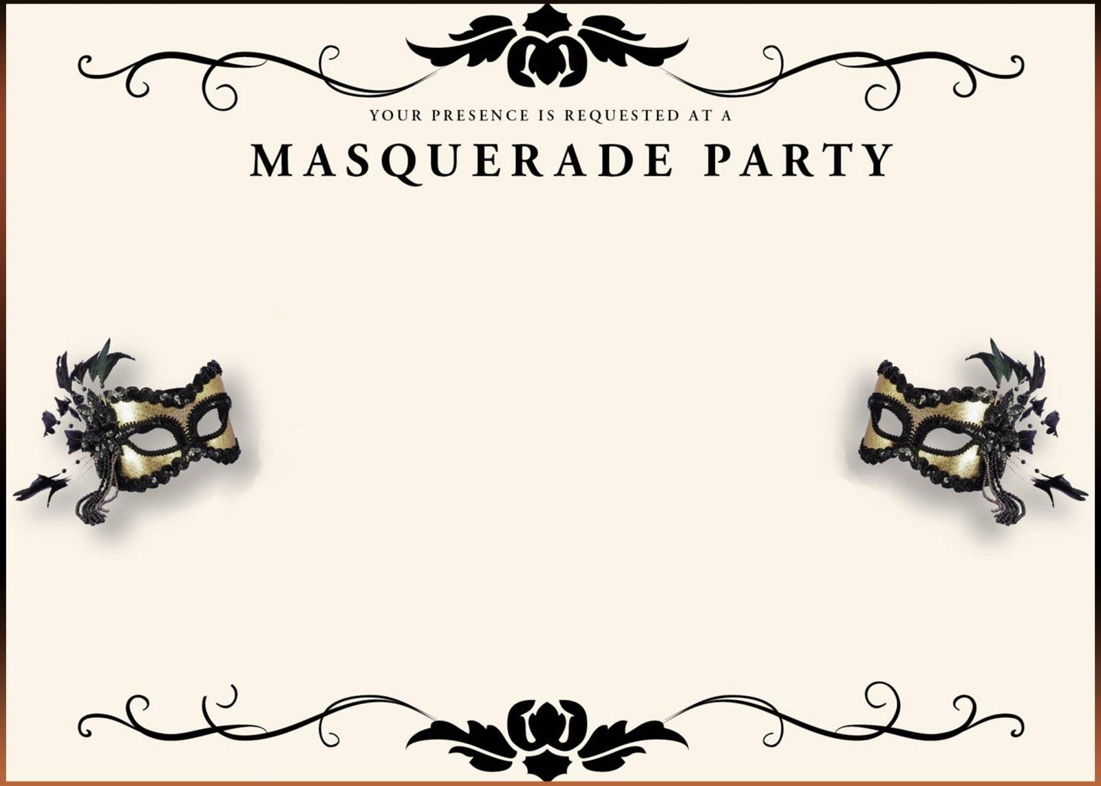 Free Printable Masquerade Invitation Templates