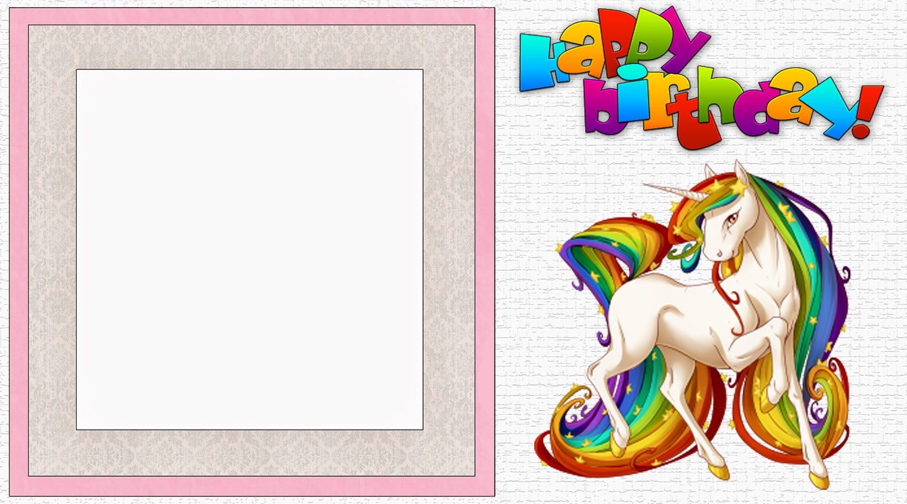 Unicorn Invitation Templates Designed To Meet The