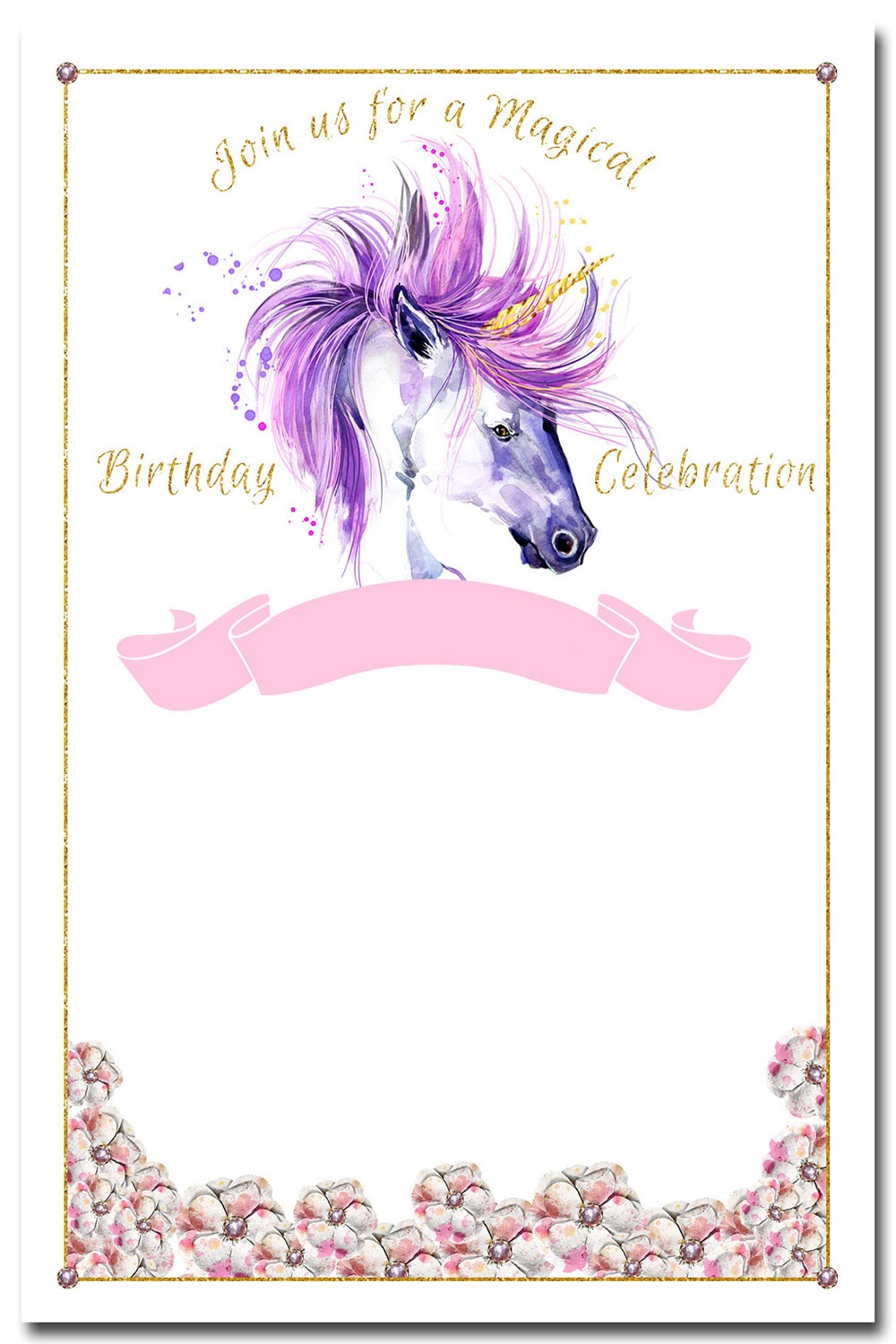 Unicorn Invitation Design Invitations Online