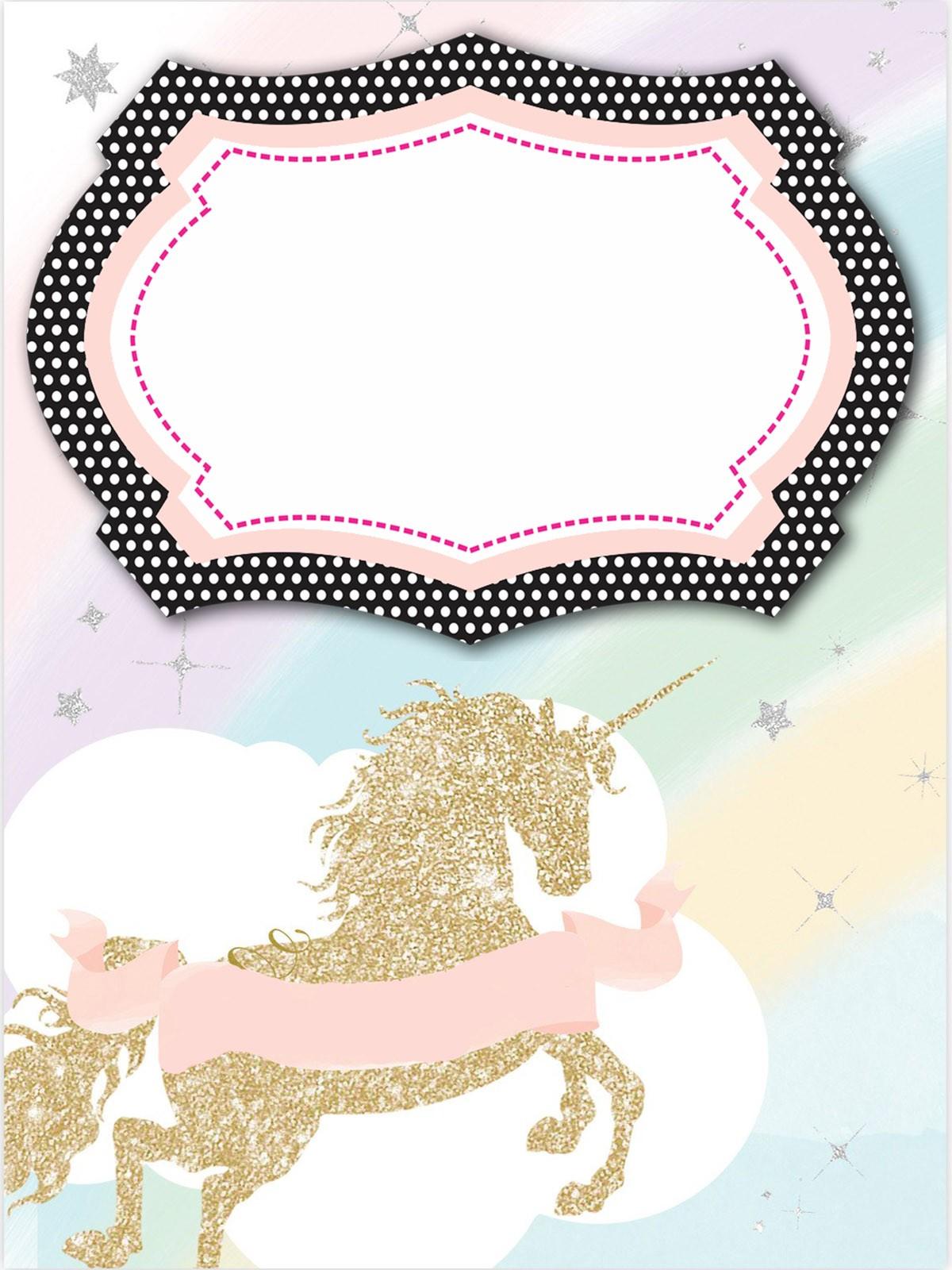 unicorn invitation templates designed