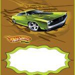 editable hot wheels invitation card