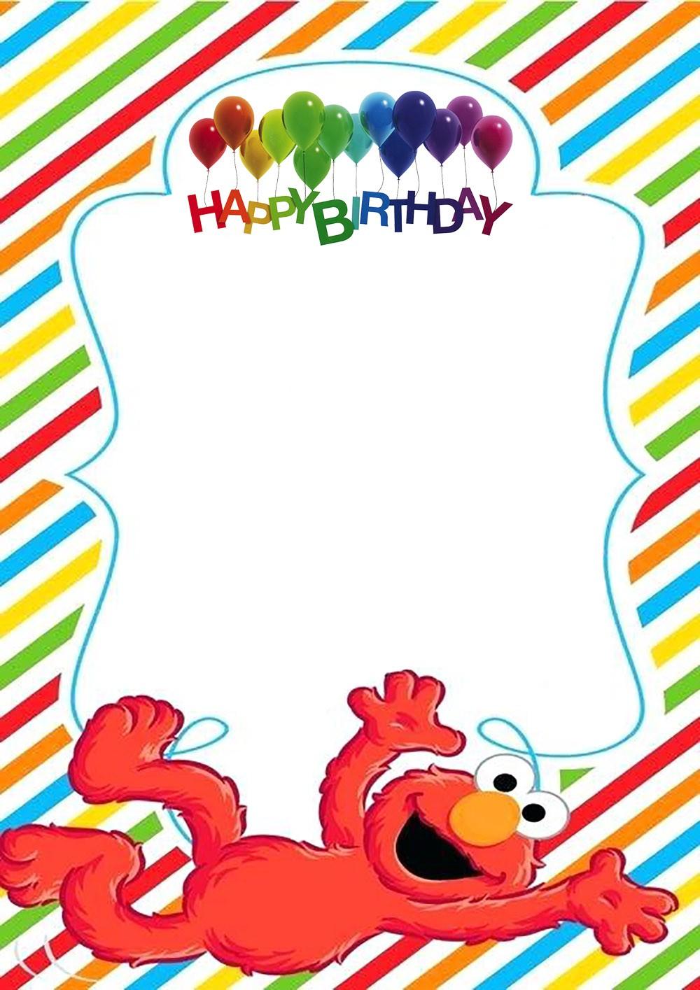 elmo birthday party invitation template