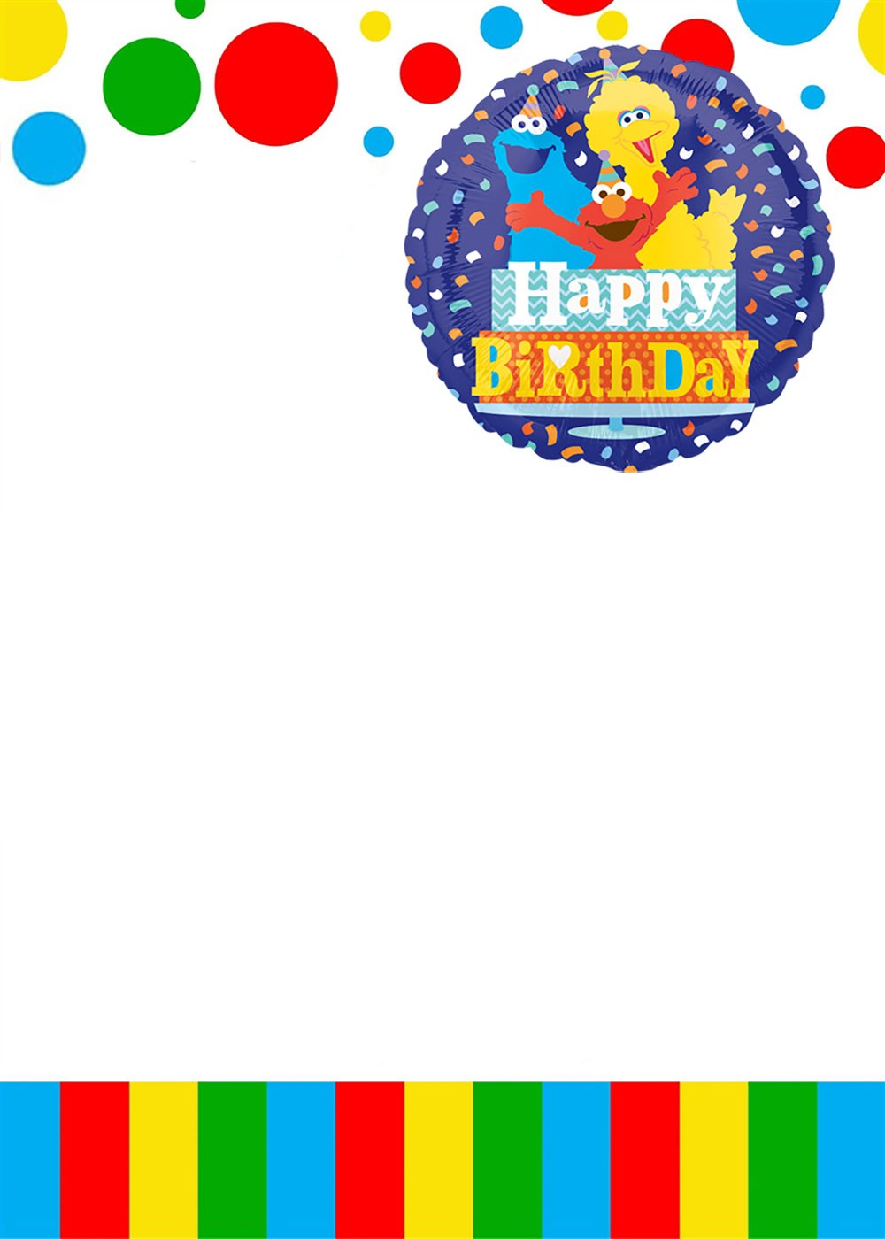free printable sesame street birthday
