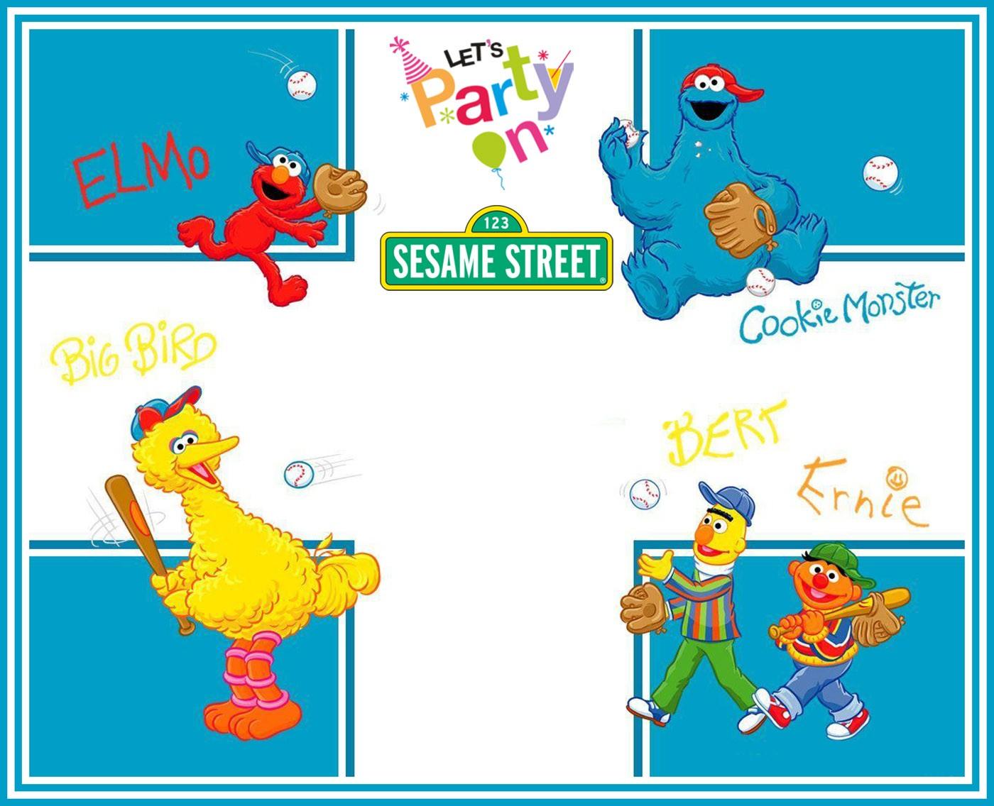 free printable sesame street party