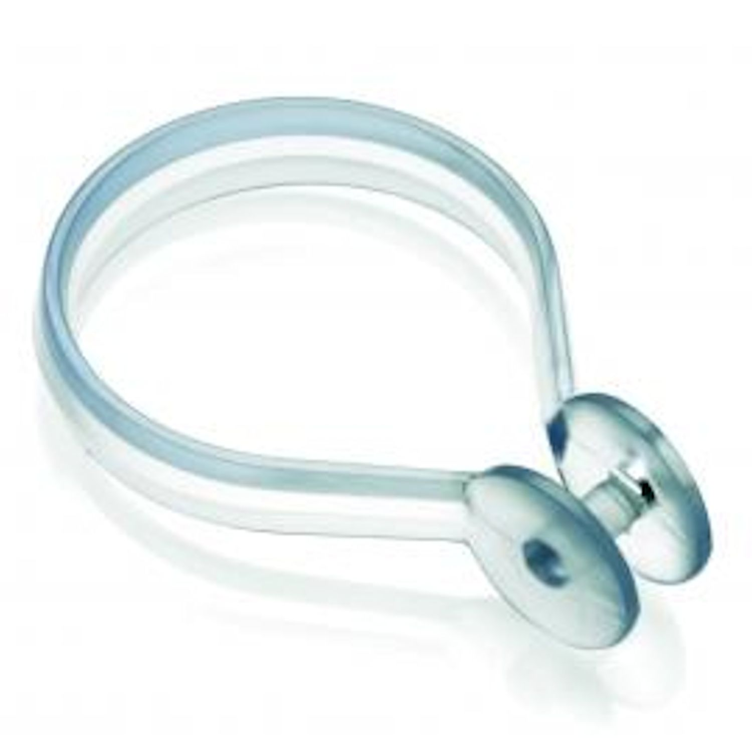 Button Shower Curtain Rings  Clear Plastic Pack of 12