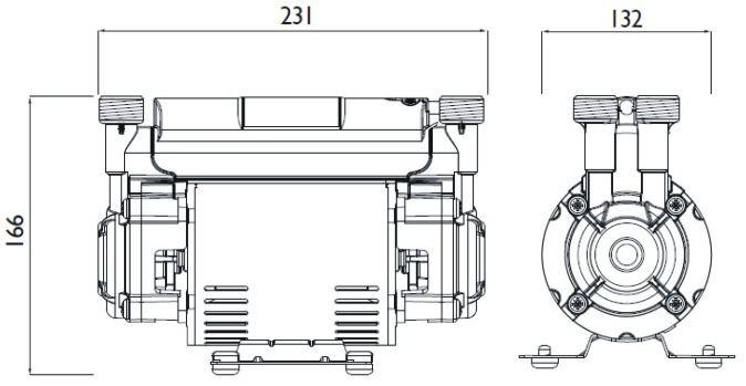 Bristan ST PUMP15TN 1.5 bar twin impellor shower pump
